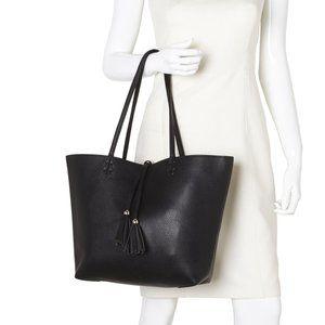 Reversible Bag in a Bag Black Tote